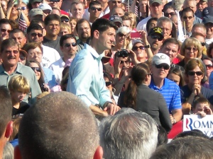 GOP vice presidential candidate, Paul Ryan in Powell, OH